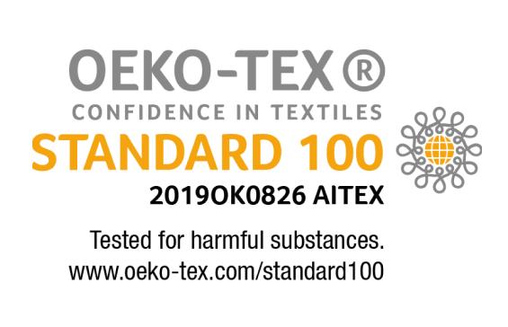100% Oeko-Tex Certified Materials