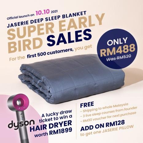 Super Early Bird Sales - Jaserie Bamboo Deep Sleep Blanket